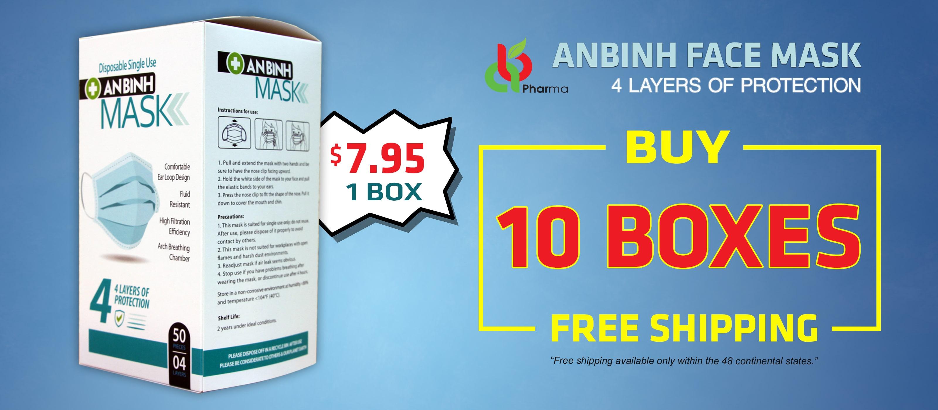 An Binh Pharma face mask BUY 10 BOXES FREE SHIPPING
